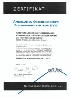 Zertifikat Osteologisches Schwerpunktzentrum (DVO) 2008